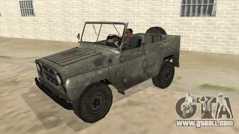 UAZ-469 Old Green Rust for GTA San Andreas