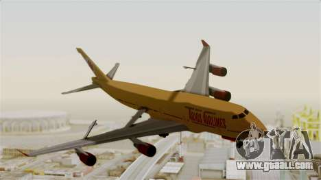 GTA 5 Jumbo Jet v1.0 Adios Airlines for GTA San Andreas back left view
