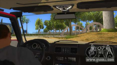 Mercedes-Benz G500 Off Road V3.0 for GTA San Andreas inner view