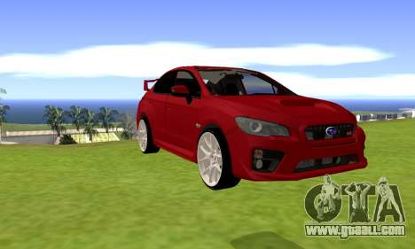 Subaru WRX STI 2015 for GTA San Andreas left view