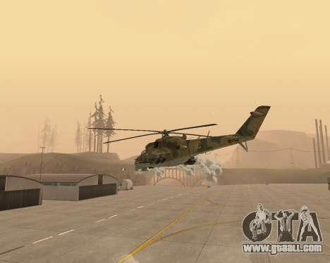 An Mi-24 At The Crocodile for GTA San Andreas side view