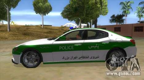 Maserati Iranian Police for GTA San Andreas left view