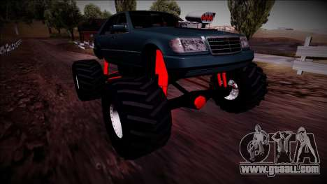 Mercedes-Benz W140 Monster Truck for GTA San Andreas bottom view