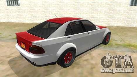 GTA V Karin Sultan RS 4 Door for GTA San Andreas right view