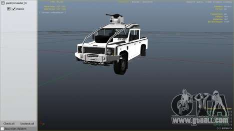 GTA 5 Land Rover 110 Pickup Armoured right side view