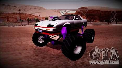 GTA 5 Imponte Ruiner Monster Truck for GTA San Andreas side view