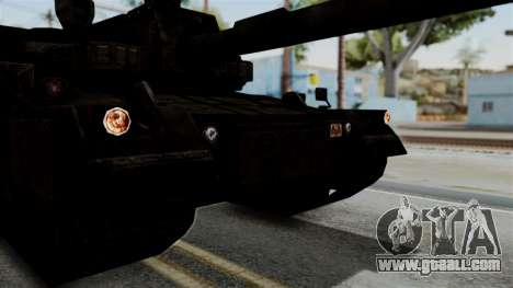 Point Blank Black Panther Rusty IVF for GTA San Andreas back view
