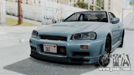 Nissan Skyline GT-R R34 V-spec 1999 for GTA San Andreas