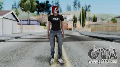 Female Skin 2 from GTA 5 Online for GTA San Andreas second screenshot