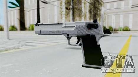 Pouxs Desert Eagle v2 Chrome for GTA San Andreas third screenshot