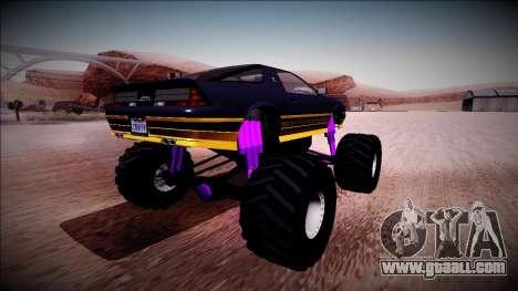 GTA 5 Imponte Ruiner Monster Truck for GTA San Andreas back left view