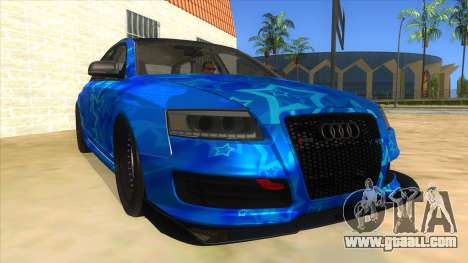 Audi RS6 Blue Star Badgged for GTA San Andreas back view