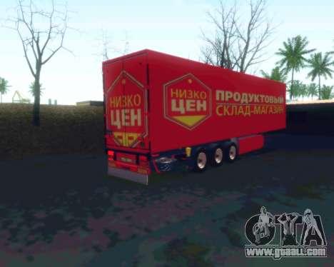 The trailer NIZKOTCEN for GTA San Andreas left view