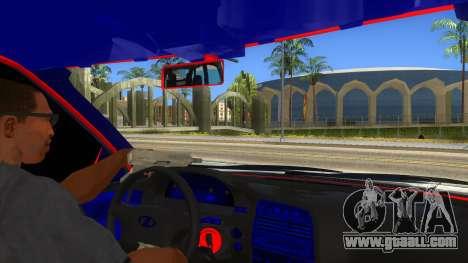VAZ 2112 Hobo for GTA San Andreas inner view