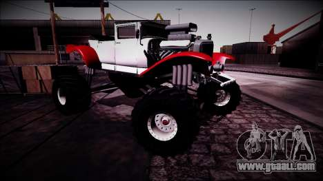 GTA 5 Albany Franken Stange Monster Truck for GTA San Andreas side view