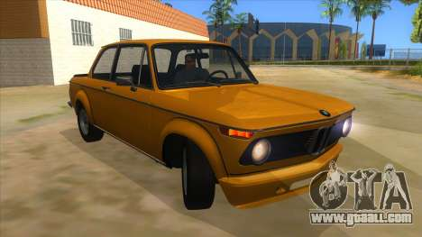 1974 BMW 2002 turbo v1.1 for GTA San Andreas back view