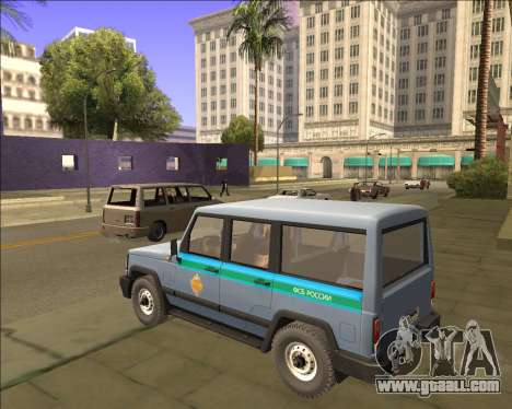 THE UAZ 3170 FSB for GTA San Andreas back left view