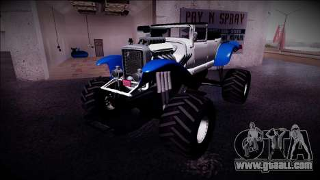 GTA 5 Albany Franken Stange Monster Truck for GTA San Andreas left view