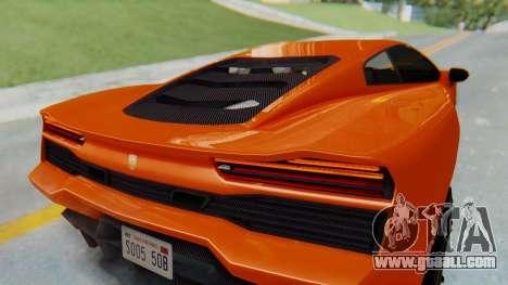 GTA 5 Pegassi Vacca IVF for GTA San Andreas back view