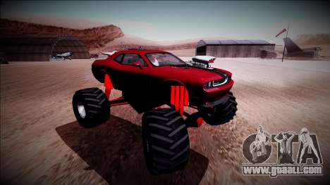 2009 Dodge Challenger SRT8 Monster Truck for GTA San Andreas inner view