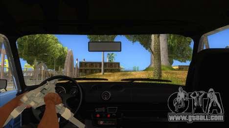 VAZ 2106 Drift Edition for GTA San Andreas inner view