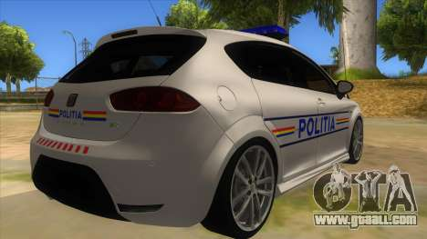 Seat Leon Cupra Romania Police for GTA San Andreas right view