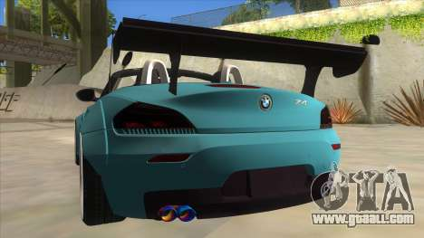 BMW Z4 Liberty Walk Performance for GTA San Andreas bottom view