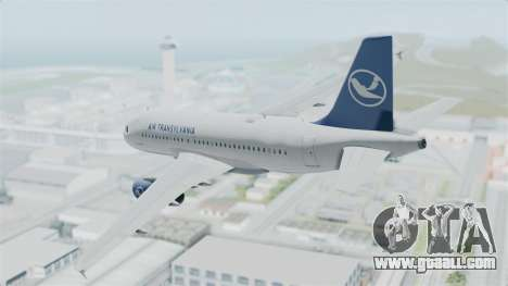Airbus A319 Air Transylvania for GTA San Andreas left view