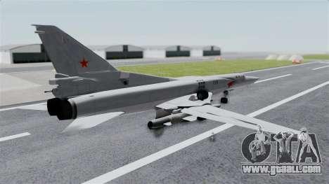 TU-22M3 Grey for GTA San Andreas left view