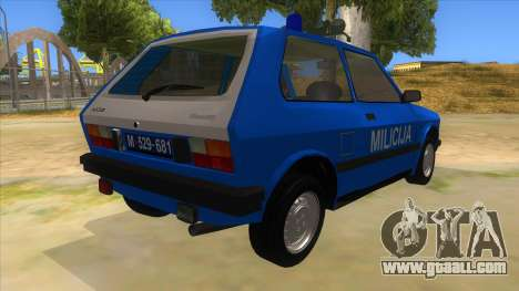 Yugo Koral Police for GTA San Andreas right view