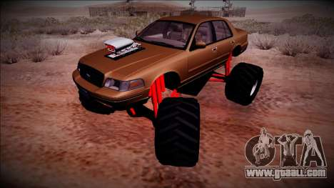2003 Ford Crown Victoria Monster Truck for GTA San Andreas side view