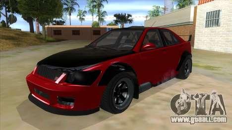 GTA V Karin Sultan RS 4 Door for GTA San Andreas inner view