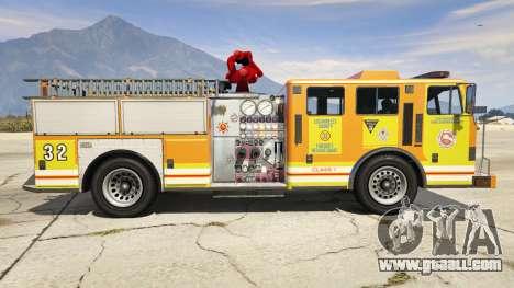 GTA 5 Los Angeles Fire Truck left side view