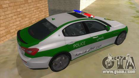Maserati Iranian Police for GTA San Andreas right view