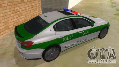 Maserati Iranian Police for GTA San Andreas right view
