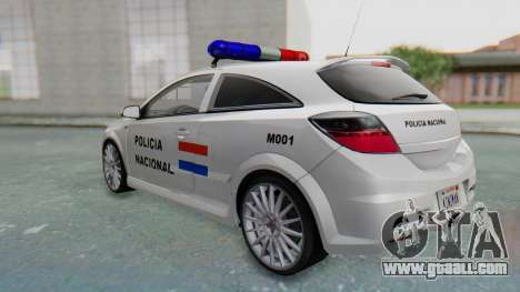 Opel-Vauxhall Astra Policia for GTA San Andreas right view