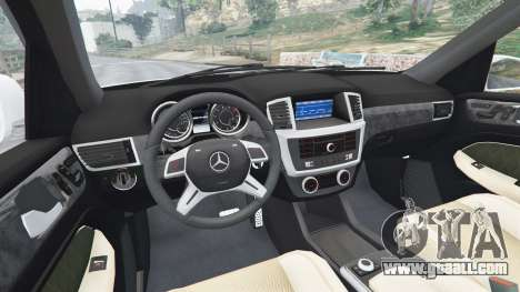 GTA 5 Mercedes-Benz GL63 (X166) AMG rear right side view