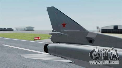 TU-22M3 Grey for GTA San Andreas back left view