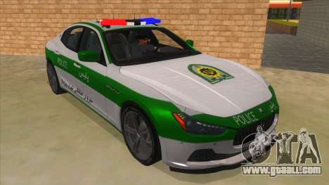 Maserati Iranian Police for GTA San Andreas back view