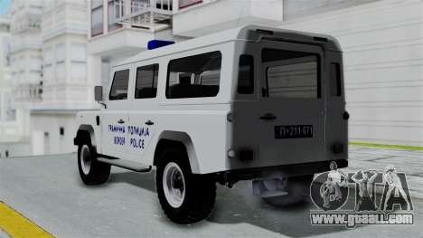 Land Rover Defender Serbian Border Police for GTA San Andreas left view