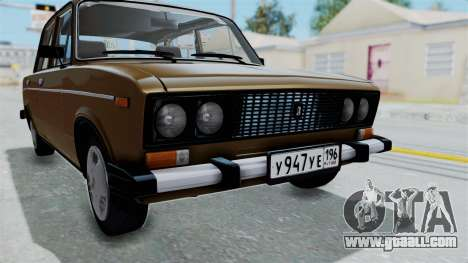 VAZ 2106 for GTA San Andreas inner view