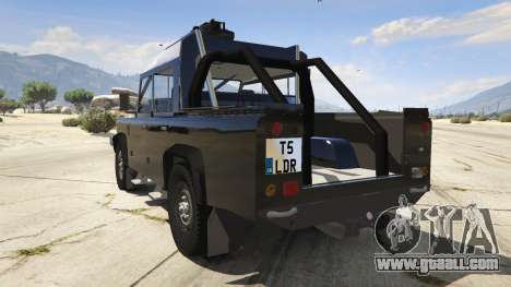 GTA 5 Land Rover 110 Pickup Armoured rear left side view
