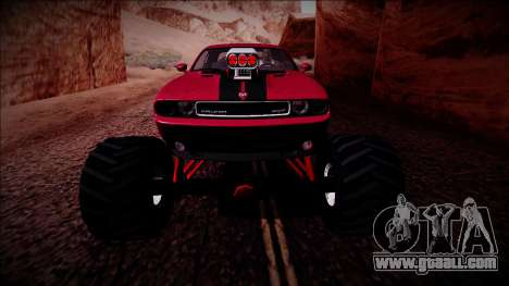 2009 Dodge Challenger SRT8 Monster Truck for GTA San Andreas bottom view