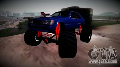 Mercedes-Benz W140 Monster Truck for GTA San Andreas side view