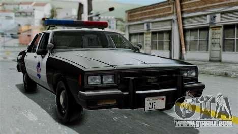 Chevrolet Impala 1985 SFPD for GTA San Andreas