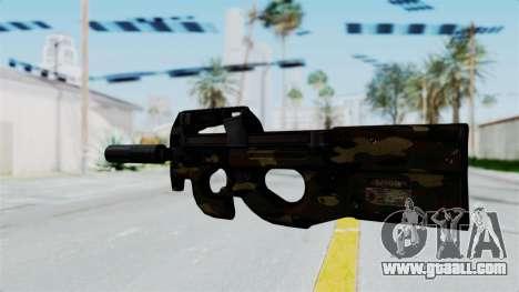 P90 Camo1 for GTA San Andreas second screenshot