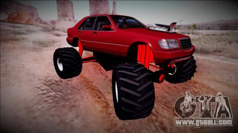 Mercedes-Benz W140 Monster Truck for GTA San Andreas upper view