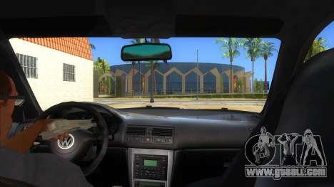 Volkswagen Golf R32 Hatsune Miku Itasha for GTA San Andreas inner view