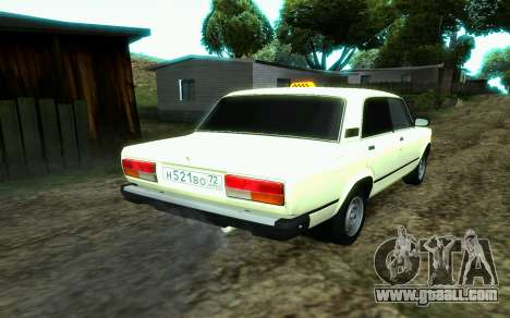 VAZ 2107 Taxi for GTA San Andreas left view