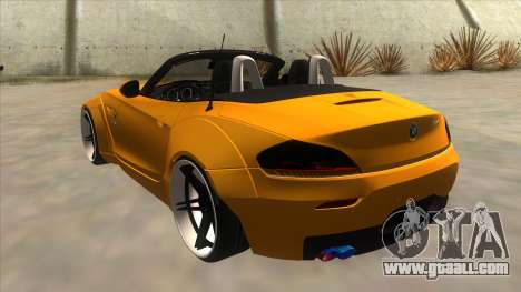 BMW Z4 Liberty Walk Performance for GTA San Andreas back left view